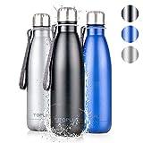TOPLUS Thermobecher/Isolierbecher 500ml, Thermosflasche Isolierflasche, Vakuum Isolierte 304...