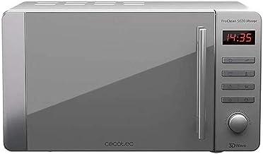 Cecotec ProClean 5020 Mirror - Microondas 700 W, Capacidad de 20L, Revestimiento Ready2Clean, 5 Niveles Funcionamiento, 8 Programas, Temporizador 60 min, Pantalla LED