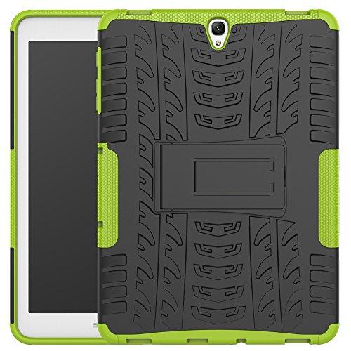 Capa para Tab S3 9,7 polegadas, JYZR [Robusto Pesado] Resistente a Impactos Capa com Suporte Traseiro Rígido para Tablet Samsung Galaxy Tab S3 9,7 polegadas SM-T820/T825, Verde