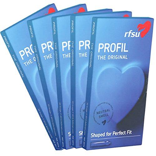 RFSU Profil SPAR-PACK (5x10) 50 Kondome - Profil: besondere Passform, wo das Gefühl am stärksten ist