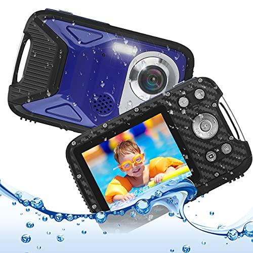 キッズカメラ 子供用 デジタルカメラ 防水 デジカメ 1080P コンパクトカメラ 2.8インチ 子供プレゼント 8倍ズーム 5m水中カメラ 16MP 連写 タイマー撮影 録音 録画 IPS大画面 ストロボ USB充電 知育 教育おもちゃ 子供 学生 初心者向け