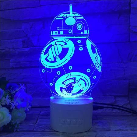Star Wars luz de noche 7 colores 3D USB LED lámpara de mesa decoración del hogar niños fiesta de cumpleaños regalo para amigos y colega