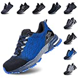 Zapatos de Seguridad Hombre Trabajo Comodos Mujer con Punta de Acero Ligeros Calzado de Industrial y Deportivos Transpirable...
