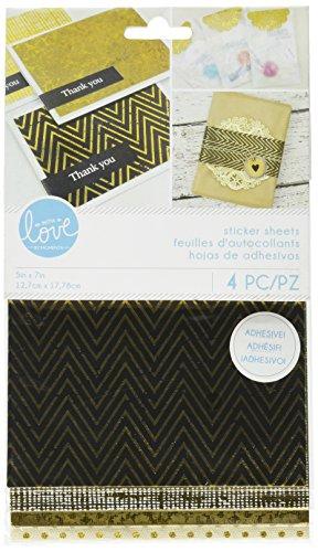 Momenta Stickervellen 5 x 9-inch-goudfolie en papier, andere, veelkleurig, 0,38 x 13,33 x 22,86 cm