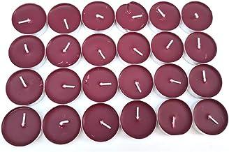 Schone Products Lot de 24 bougies chauffe-plat parfumées – parfum prune – Choix populaire pour éclairage d'appoint – calme...