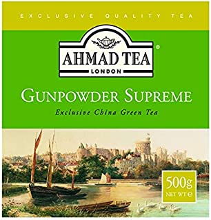 Ahmad Tea Loose Leaf Gunpowder Green Tea, 17.64 oz