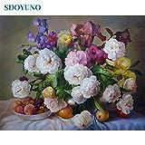 40x50cm pintura al óleo por números Flores Naturaleza imágenes por números Sobre lienzo Decoración de la habitación Sin marco Pintura digital DIY-60x75cm sin marco_6 6