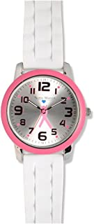 Nurse Mates Color Top Ring Watch Pink Ribbon