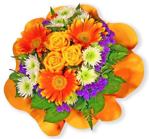 """Blumenstrauß Blumenversand """"Viele Grüße"""" +Gratis Grußkarte+Wunschtermin+Frischhaltemittel+Geschenkverpackung"""