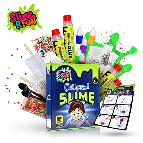 Unicorn Slime Kit DIY Tool - Ultimate Slime Making Kit with Slime Containers - Slime Supplies for Boys & Girls - Everything for Fluffy, Glitter, Glow, Floam, Cloud Styles, Mermaid, Science & Art Play