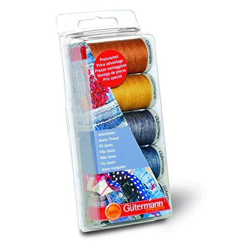 Gutermann GUT_731323-1 Set di fili da cucito per jeans, Poliestere