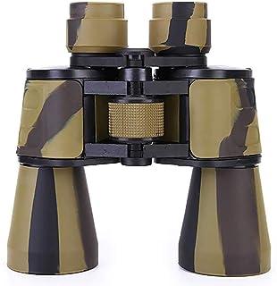 Impermeable y portátil 20X50-Telescopio de alta definición camuflaje Prismáticos -Con lente FMC Y Bak4 Prisma material adecuado for el recorrido de caza BBGSFDC (Color : A)