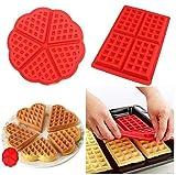 HBlife 2 PC/Set Waffle Mold silicona horno...