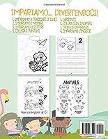 Libro Prescolare 3-6 Anni: 175 Pagine di Giochi Educativi per Preparare i Bambini alla Prima Elementare! Traccia Lettere e Numeri, Completa e Colora le Forme, Unisci i Puntini, Impara l'Inglese! #1