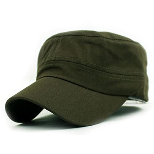 73abefb5 Hotsellhome New Classic Adjustable UV Protection Plain Vintage Army  Military Cadet Style Cotton Cap Sun Hat