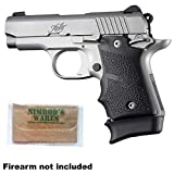 Nimrod's Wares Hogue Kimber Micro 9 Grip Finger Grooves Ambi + Extended Base PAD for 7-rd Magazine Microfiber Cloth