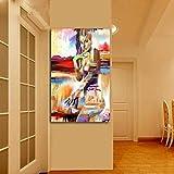 Sadhaf arte abstracto pintura de color niña cuerpo decoración del hogar dormitorio niño sala de estar decoración del hogar a1 30x40cm