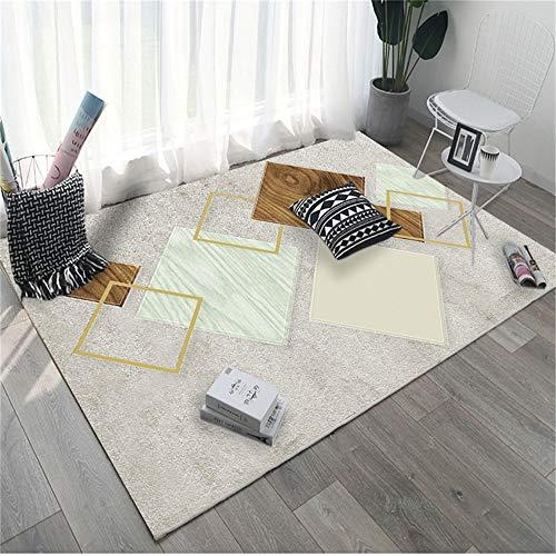 European-Style Modern Minimalist 3D Printed Carpet Non-Slip And Moisture-Proof Full-Shop Household Rectangular Floor Mats Living Room Bedroom Hotel Party Floor Mats