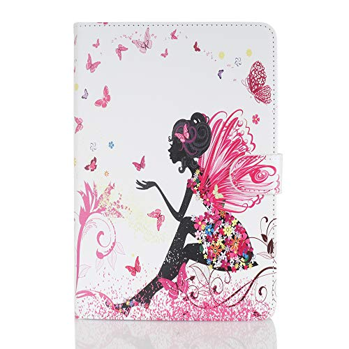 Case for Tablet iPad Mini, Flip Cover Leather Wallet with Card Holder for iPad Mini 1 2 3 4 5 - Female Elf