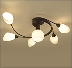 HN Lighting Rustic Ceiling Lamp Style LED Flush Mount Ceiling Lights, Creative Living Room Ceiling Lamp, Bedroom Ceiling L...