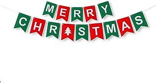 MINGPINHUIUS Merry Christmas Banner, Walls Windows Door Decorative Hanging Ornaments