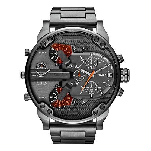 FENKOO Männer Uhrquarz wasserdichte Sport-Uhr-Kalender echtem Edelstahl Armbanduhr montre reloj relogio