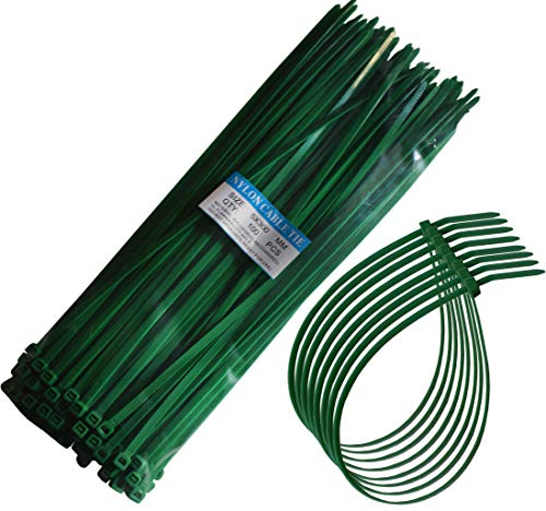 """12"""" Heavy Duty Self Locking Nylon Cable Zip Ties,100 Pcs (Green)"""