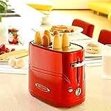 SEESEE.U Machine à Pain Amovible Pop-up Hot-Dog Grille-Pain Machine à Pain avec Pince Temps de Cuisson réglable Simple à Nettoyer Petit-déjeuner Pain Hot-Dog Grille-Pain