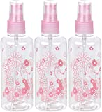 KABEER ART® 100ml Empty Cute Bear & Floral Refillable Fine Mist Sprayer Spray Bottle Atomizer with Ultra-Fine Mist Pump for Beauty, Outdoors, Travel Purposes - 3 Pc (Random Colour)