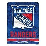 The Northwest Company NHL New York Rangers 'Break Away' Micro Raschel Throw Blanket, 46' x 60' , Blue
