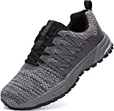 UBFEN Sneakers for Mens Womens Running Shoes Walking Casual Footwear Fitness Jogging Athletic Bowling Indoor Outdoor Sports Shoes 6.5 Women/6 Men C Grey