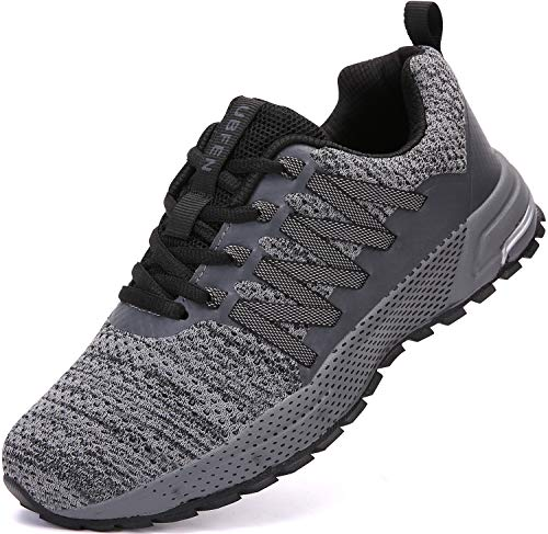 UBFEN Sneakers for Mens Womens Running Shoes Walking Casual Footwear Fitness Jogging Athletic Bowling Indoor Outdoor Sports Shoes 8.5 Women/7 Men C Grey