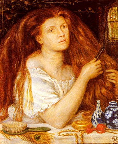 $50-$2000 Hand Painted by College Teachers - 8 Famous Paintings - Woman Combing Her Hair Pre Raphaelite Brotherhood Dante Gabriel Rossetti - Handmade Art Oil Painting on Canvas -06