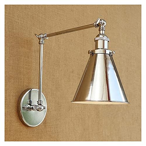 CMMT lámpara de Pared Luz de balancín de Metal Retro Moderna Dirección de iluminación Ajustable Sala de Estar Dormitorio Estudio Pasillo Iluminación de Pared