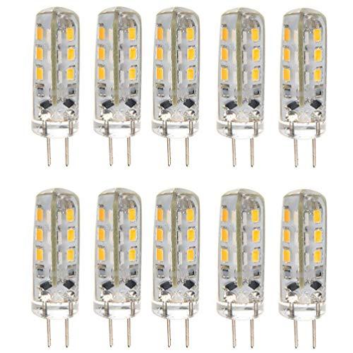 OSALADI 10Pcs G4 LED Bulb, 1. 5W 24 SMD 3014 LEDs Halogen Bulbs Replacement, G4 Bi Pin Bulb Warm White for Landscape Under Cabinet Lighting
