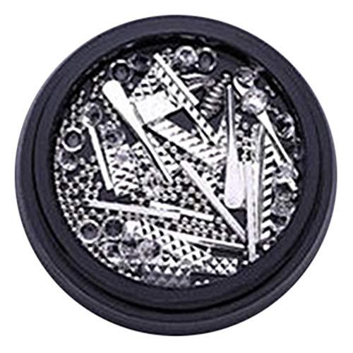 Homeofying Barres en métal rectangulaires Rivets pour nail art Strass Décorations Roue DIY Conseils