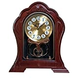 Beesealy Table Clock, Retro Mantel Clock, Antique Silent Mantle Clock, Old-Fashioned Table Clock, Suitable for Mantel, Office, Desk, Bookshelf, Living Room Decoration