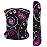 RICHEN Keyboard Wrist Rest Pad and Mouse Wrist Rest Support Mouse Pad Set,Durable & Comfortable & Lightweight for Easy Typing & Pain Relief-Ergonomic Support (Cherry Blossoms)