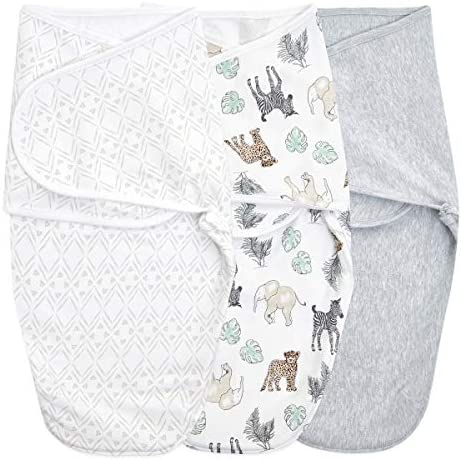 aden anais Essentials Easy Wrap Swaddle Cotton Knit Baby Wrap Newborn Wearable Swaddle Sleep product image