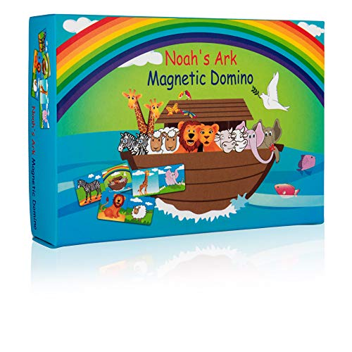 Noah's Ark Animals Domino Game - Fun Family Magnetic Playset. an Educational Biblical Story Learning Game for Kids Ages 3 and Up.