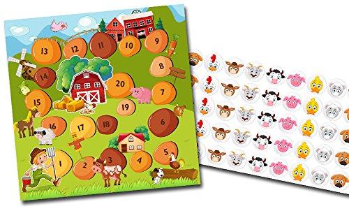 By Diana Belohnungssystem für Kinder Motiv Bauernhof + Tiere - 2 doppelseitige Blätter + Aufkleber