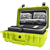 STR8 Elite Case 1207 with Lid Pocket Organizer, Pluck-able Diamond Cut Foam, TSA Ready, Waterproof, Smell Proof, Lockable, Glass Protector, Multi-Purpose Carry Case Brand (Mellow Yellow)