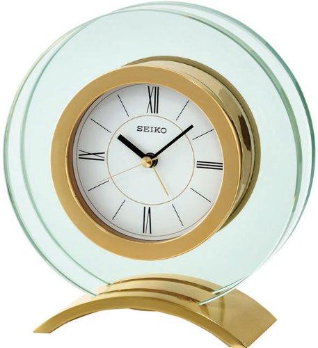 Seiko Tischuhr gold Glas / Aluminium QHE057G