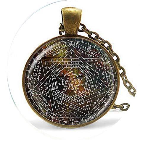 bab Maya-Kalender-Anhänger, Maya-Kalenderschmuck, Aztekenkalender 1 Halskette, Bibelzitat, Anhänger, religiöse Halskette