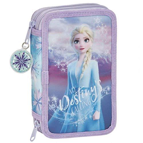 Frozen II Plumier Doble, Estuche con 28 Piezas, niña