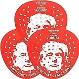 Fairly Odd Novelties Donald Urinalsieb, lustiges Geschenk für Büroarbeit oder öffentliche Toilette, 3er-Pack, rot