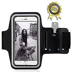 Brassard Sport iPhone 6 Plus - YOKIRIN Etui Brassard Armband Case Sweatproof Anti-Sueur avec Sangle Réglable compatible Avec iPhone 6 Plus/Galaxy S6/Huawei P8/Honor Inférieur à 5.5 Pouces
