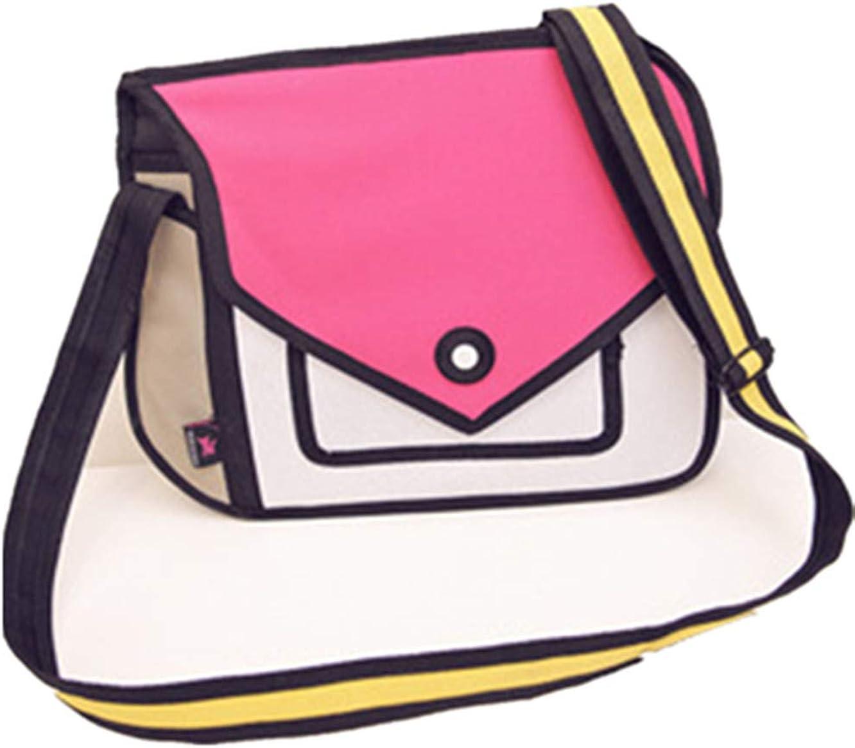 Xugq66 3D Style 2D Drawing Messe Max 59% OFF Handbag Cartoon Shoulder Canvas Max 60% OFF