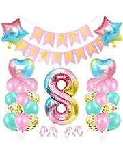 Ballong 8 födelsedag rosa, födelsedagsdekoration 8 år flicka, jättestor folieballong 8 rosa, deco 8 födelsedag flicka, ballong 8 dekoration till födelsedag, färgglada foliesiffror ballonger 8, banderoll