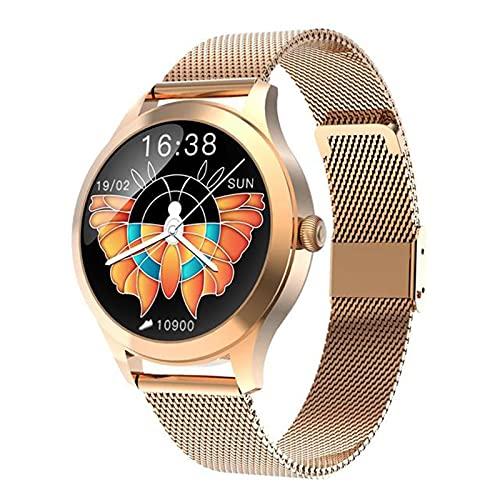 YZK Nuevo Regalo KW10PRO Smart Watch Ladies Pantalla Táctil Completa IP68 Sistema Fisiológico Impermeable Recordatorio Smartwatch para Android iOS,B